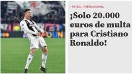 UEFA: multa per Cristiano Ronaldo. Ecco la reazione della stampa estera