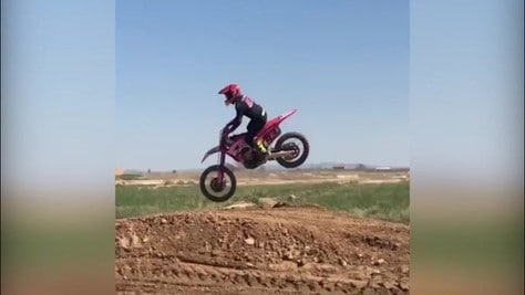 MotoGp, Marquez si allena in motocross