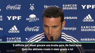 """Scaloni: """"Adattiamoci a Messi"""""""