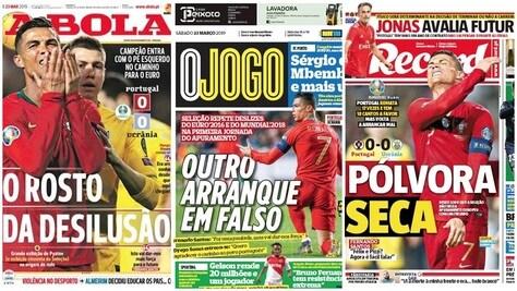 Portgallo, non basta Cristiano Ronaldo: la delusione sui giornali