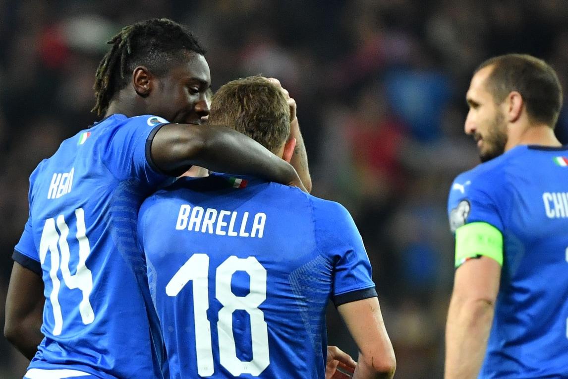 Italia-Finlandia 2-0: Barella e Kean, sorrisi azzurri