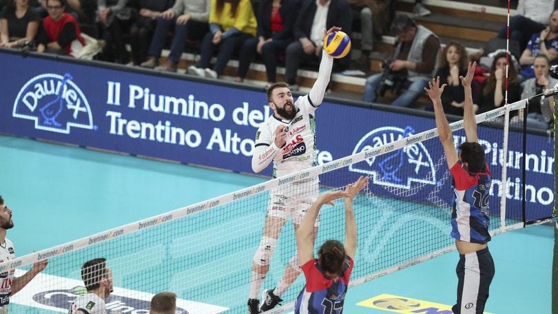 Volley: Superlega, Trento mantiene l'imbattibilità interna e chiude al secondo posto