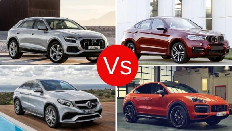 Audi, BMW, Mercedes, Porsche: sfida dei SUV-coupé