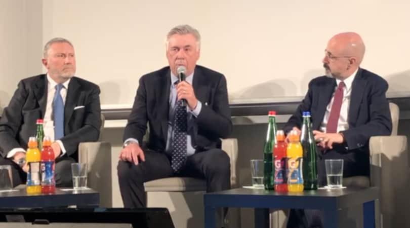 Ancelotti: «Voglio rimanere al Napoli più di 8 anni»