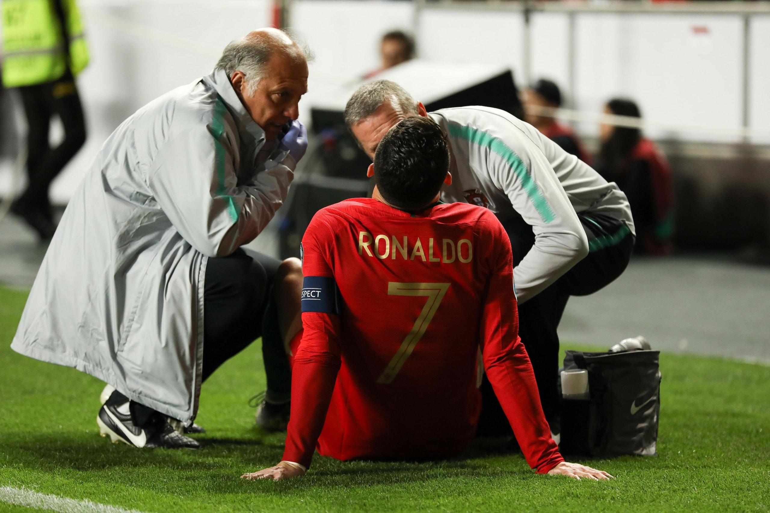 Portogallo-Serbia: si infortuna Ronaldo