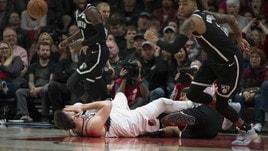 Nba: Portland vince, ma Nurkic si rompe tibia e perone