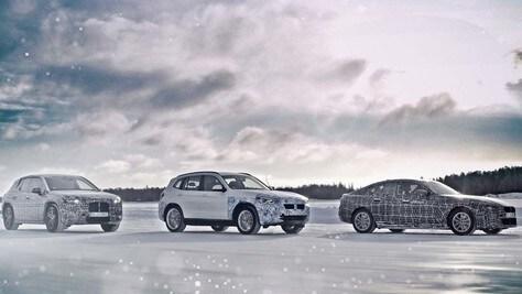 BMW, test al Circolo Polare per iX3, i4 e iNext