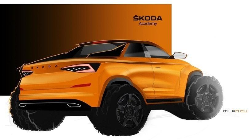 Skoda Kodiaq, il prototipo di pick-up disegnato dagli studenti