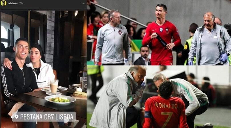 Cristiano Ronaldo, ecco il bollettino della Juve sulle sue condizioni