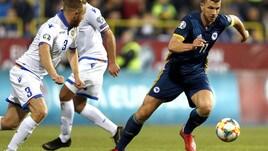 La Bosnia di Dzeko fermata dalla Grecia: gol e rosso per Pjanic
