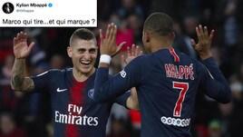 Verratti segna con l'Italia: sfottò di Mbappé su Twitter