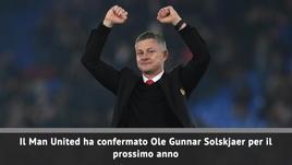 Man United, confermato Solskjaer