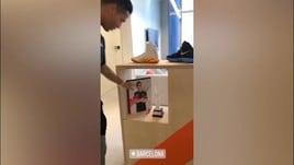 Ronaldo a Barcellona fa visita alla Nike