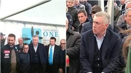 Ancelotti e De Laurentiis jr. inaugurano il centro medico di De Nicola