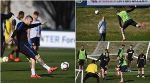 Inter-Lazio, Icardi si candida: scatenato in allenamento