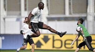 Juve, allenamento con la new entry Mokulu