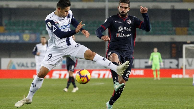 Chievo-Cagliari 0-3, i sardi in 45' condannano i gialloblù