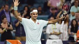 Tennis, Miami: Federer batte Anderson e trova Shapovalov in semifinale