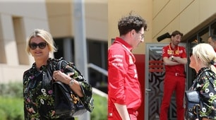 F1: Corinna Schumacher nel box Ferrari