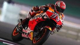 MotoGp, Argentina: Marquez davanti nelle prime libere, Rossi decimo