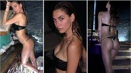 Melissa Satta, scatti bollenti nella spa