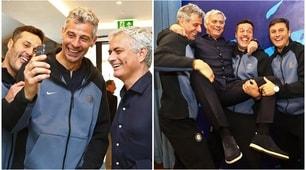 Inter, guarda chi c'è: Mourinho con le Leggende