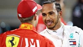 F1 Bahrain, Hamilton: «Ferrari veloce, Leclerc incredibile»