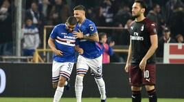 Sampdoria-Milan 1-0: Donnarumma, che regalo a Defrel