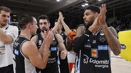 Basket Serie A, Trento batte Torino 95-87