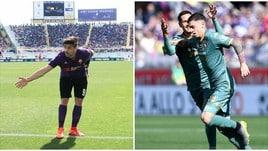Simeone illude la Fiorentina, la perla di Baselli fa 1-1