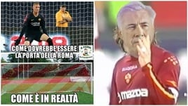 Roma travolta dal Napoli: i social contro Olsen e Ranieri