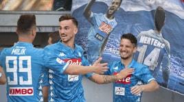 Mertens aggancia Cavani al quarto posto: 78 gol in A con il Napoli