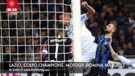 Lazio, colpo da Champions. MotoGp, domina Marquez