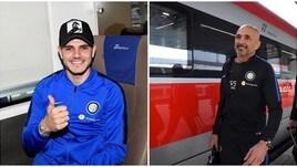 L'Inter parte in treno per Genova: Spalletti punta forte su Icardi