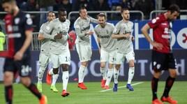 Serie A, Cagliari-Juve 0-2: decidono Bonucci e Kean, Allegri a +18 sul Napoli