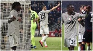 Kean, Bonucci, Matuidi: cosa è successo sotto la curva del Cagliari