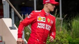 F1 test Bahrain: Mick Schumacher in pista con l'Alfa Romeo