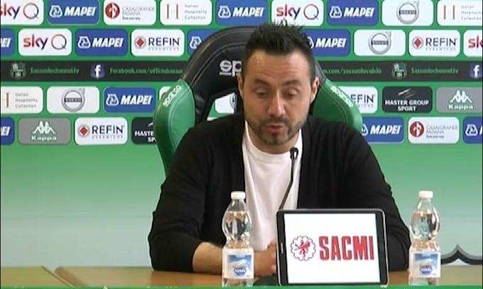 """De Zerbi: """"Momento delicato. Bologna brucia ancora"""""""
