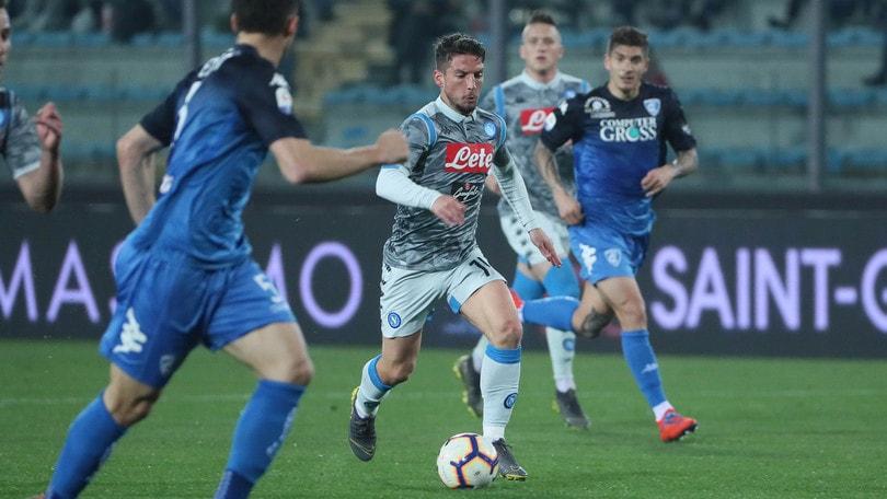 Serie A Empoli-Napoli 2-1, il tabellino