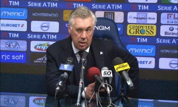 """Ancelotti: """"E' mancata la concentrazione"""""""