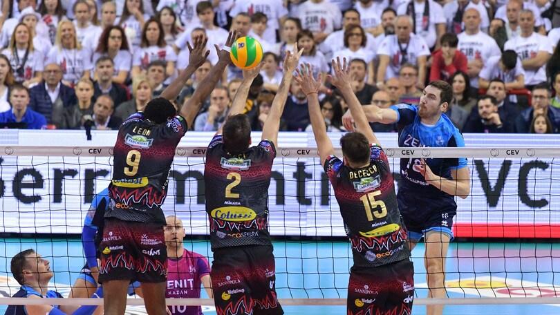 Volley: Champions League, Perugia lotta ma cede ai Campioni