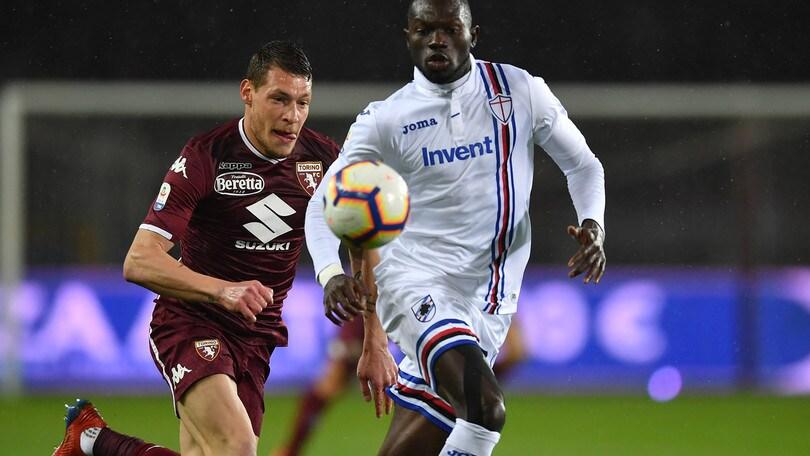 Serie A Sampdoria, escluse lesioni alla mandibola per Colley