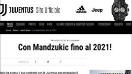 Juve, ufficiale il rinnovo di Mandzukic fino al 2021