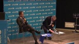 Mancini apprende di aver vinto il Premio Bearzot