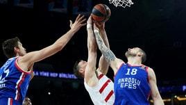 Basket: Olimpia fuori da Eurolega, passano Baskonia, Panathinaikos e Zalgiris