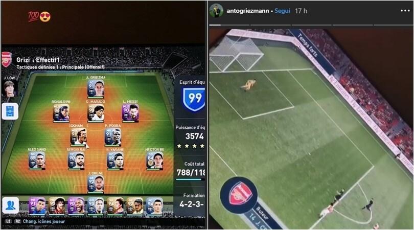 Griezmann, formazione da sogno alla PlayStation: Ronaldo in panchina