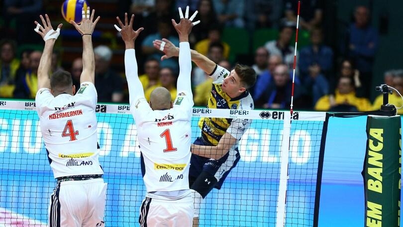 Volley: Superlega, Gara 2 dei Quarti già decisiva per Milano, Padova, Verona e Monza