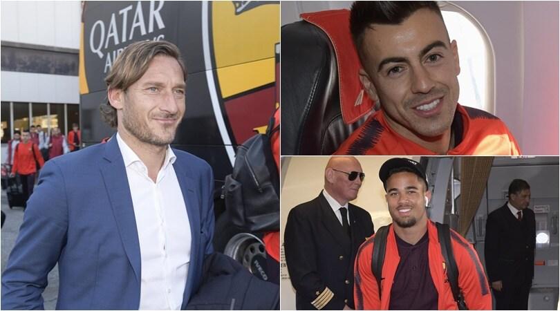 Roma verso Genova: il sorriso di Totti contagia la squadra