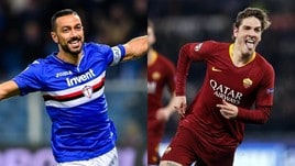Diretta Sampdoria-Roma ore 20.30: dove vederla in tv e le probabili formazioni