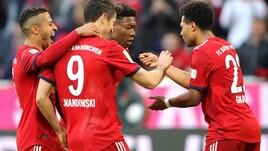 Bundesliga: Bayern Monaco show, manita al Borussia Dortmund e primo posto